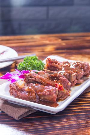 A cuisine photo of braised pork