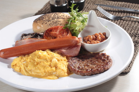 A cuisine photo of all day breakfast Stock Photo