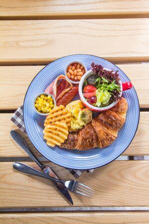 A cuisine photo of all day breakfast Reklamní fotografie