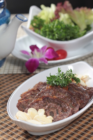 grill: A cuisine photo of cooked beef