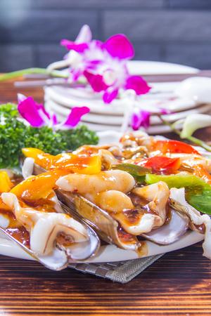 A cuisine photo of clam