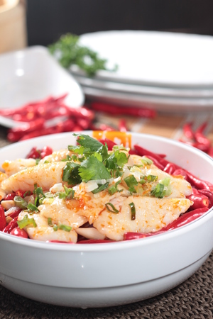 thai chili pepper: A cuisine photo of chili fish