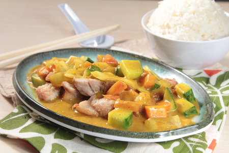 A cuisine photo of curry
