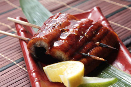 a cuisine photo of eel cuisine Stock Photo