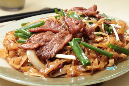 a cuisine photo of fried noodles 版權商用圖片