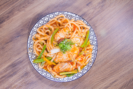 a cuisine photo of fried noodles Stock Photo