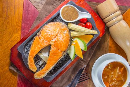 a cuisine photo of grilled fish Zdjęcie Seryjne