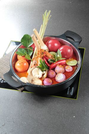 a cuisine photo of hot pot