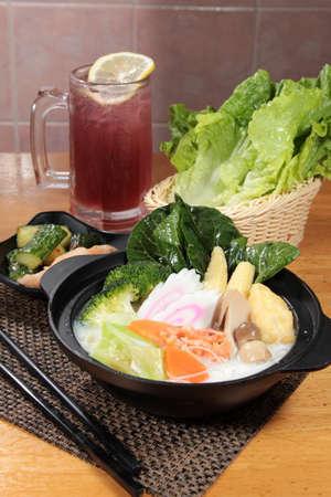 japanese cuisine: a cuisine photo of hot pot