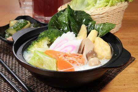 a cuisine photo of hot pot