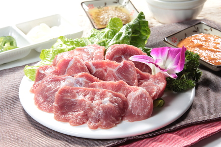 a cuisine photo of raw pork Stock Photo