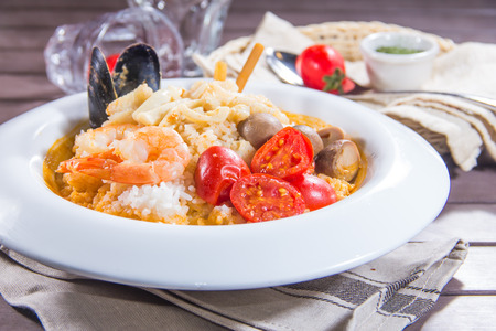 a cuisine photo of risotto