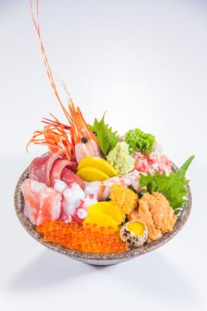a cuisine photo of sashimi