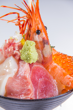 a cuisine photo of sashimi
