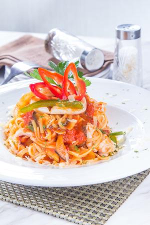 a cuisine photo of italian pasta