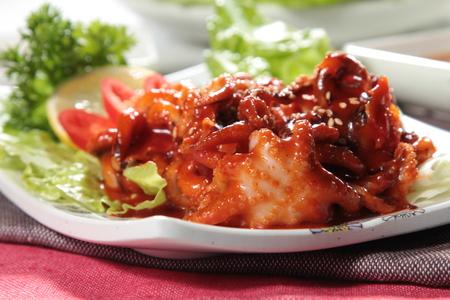 a cuisine photo of seafood cuisine