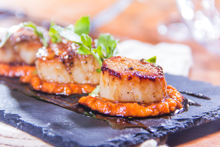 grill: a cuisine photo of seafood cuisine