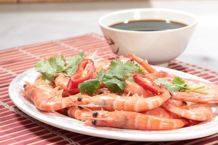 a cuisine photo of fried shrimp