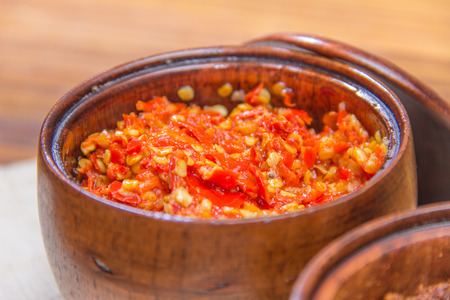 cayenne: a cuisine photo of spices and sauce and chili