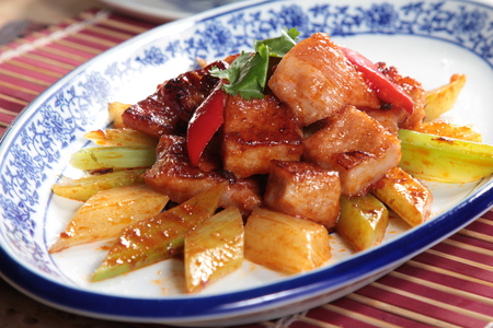 a cuisine photo of sour pork
