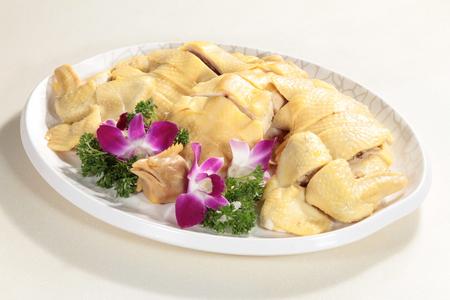 蒸し鶏の料理写真