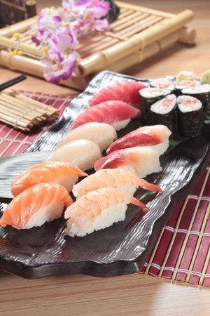 a cuisine photo of sushi