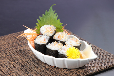 a cuisine photo of sushi roll Stock Photo