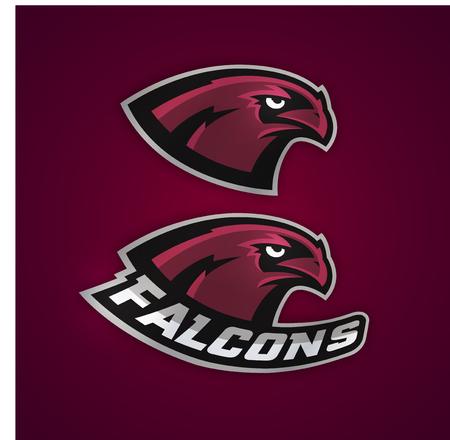 team sports: logotipo del béisbol profesional para equipo deportivo. Falcons de béisbol.