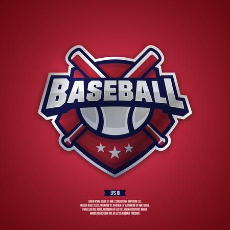 Modern professional logo for a baseball team. Иллюстрация