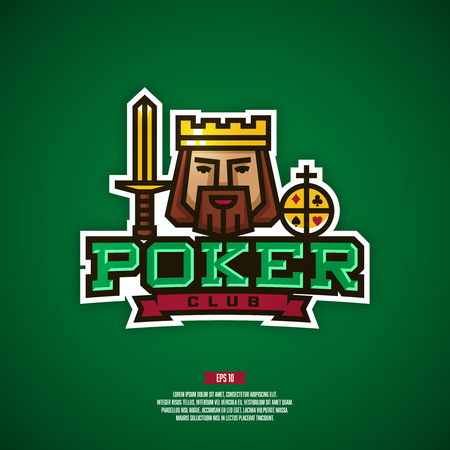 Modern professional logo for a poker club.