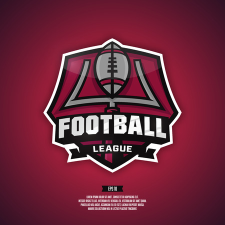 Modern professional logo for a football team. Football league logo. 向量圖像