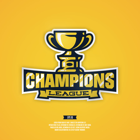 sports league: Modern professional champion sports league vector  .