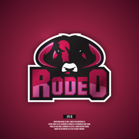 professional sport: Modern professional sport style rodeo logo.