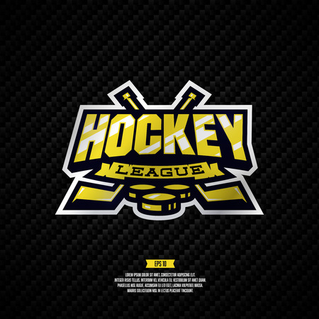 Modern professional hockey league template design.