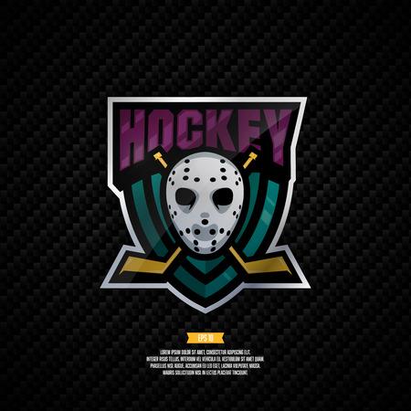 Modern professional hockey design. Sport style sign. Иллюстрация