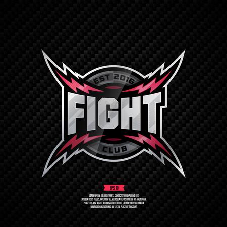 Modern professional fight club design.