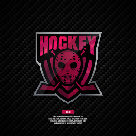 Modern professional hockey design. Sport style sign. Illustration