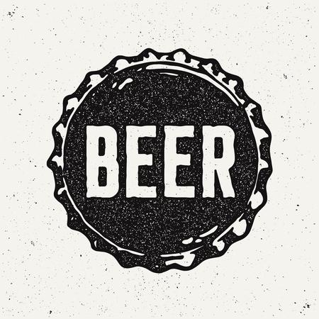 Vintage Style Craft Beer Sign. Ink stamp designs. Vektorové ilustrace