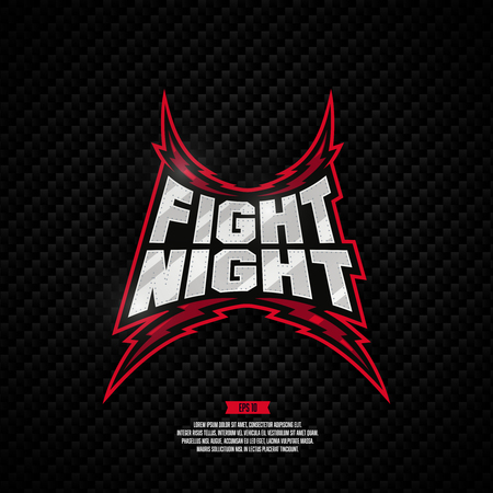 Modern professional fighting design. Fight night sign. 矢量图像