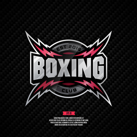 Modern professional design for a Boxing club. Illustration