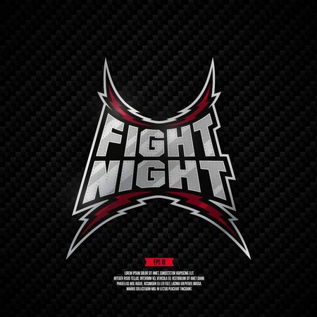 Moderne professionele vechten design. Fight Night teken.