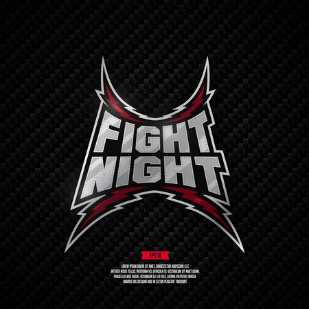 Modern professional fighting design. Fight night sign. Illustration