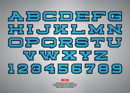 Retro sport style font for , titles, monogram. Sanserif typeface. Sport alphabet.