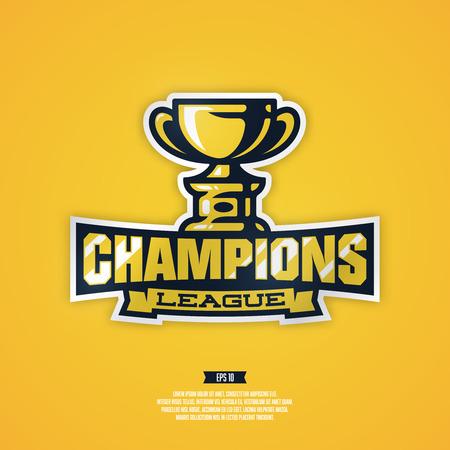 Modern professional champion sports league vector .
