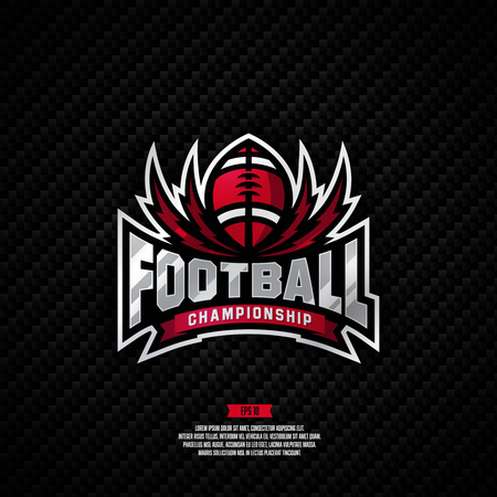 Modern professional logo for a football championship.