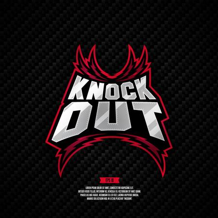 Modern professional knockout fighting logo design.