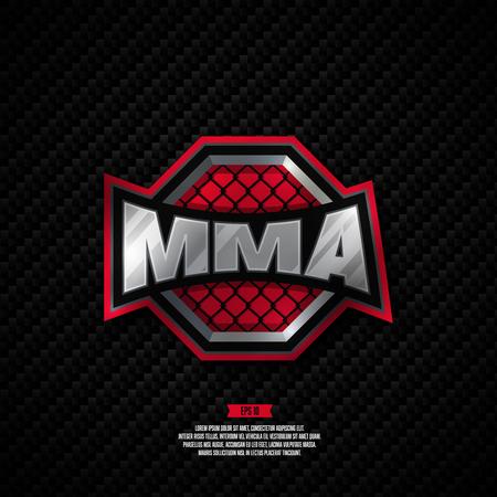 artes marciales mixtas: artes marciales mixtas de diseño profesional moderno logotipo. signo de MMA. Vectores
