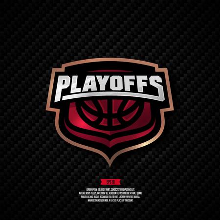 Modern professional  basketball playoff design.