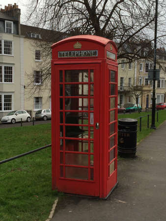 phonebooth: Telephone Booth in Bristol, UK Stock Photo
