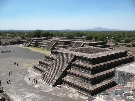 Mexican pyramids in Tenochtitlan